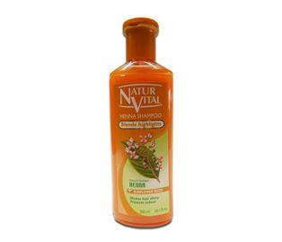 Снимка от Оцветяващ шампоан с къна за Руса коса - Natur Vital