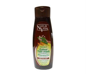 Снимка от Оцветяваща маска за коса с къна за Тъмно кестенява коса - Natur Vital