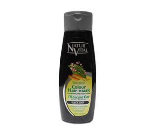 Снимка от Оцветяваща маска за коса с къна за Черна коса - Natur Vital