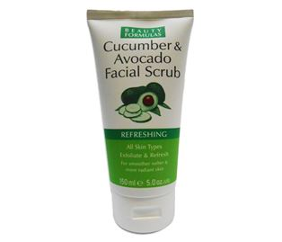 Снимка от Пилинг ексфолиант скраб за лице с авокадо и краставица - Beauty Formulas